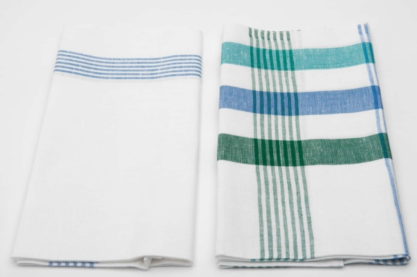 "Set of two striped linen kitchen towels ""Casablanca"" 2"