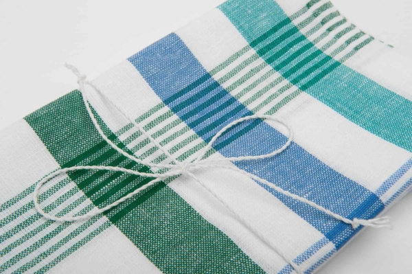"Set of two striped linen kitchen towels ""Casablanca"" 3"
