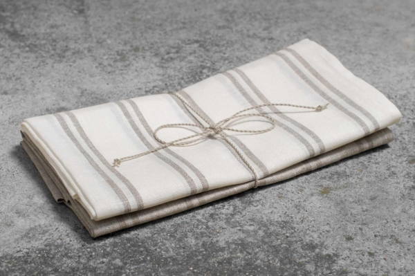 """Set of two striped linen kitchen towels """"Naples"""" 1"""