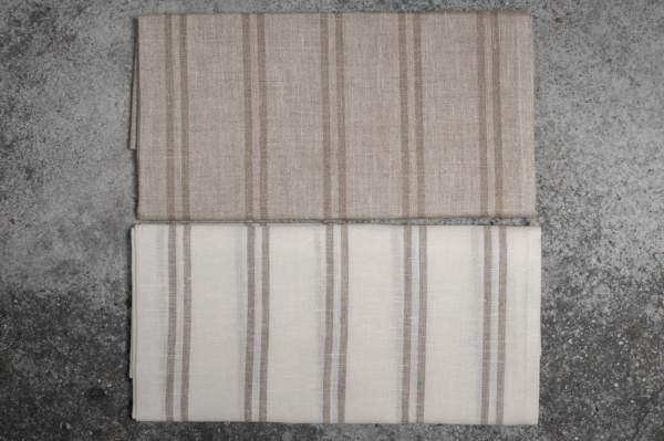 """Set of two striped linen kitchen towels """"Naples"""" 2"""