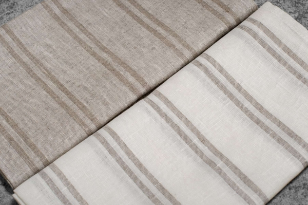"""Set of two striped linen kitchen towels """"Naples"""" 3"""
