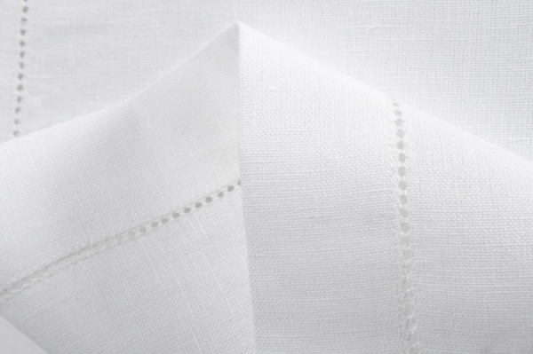 White hemstitched linen placemat 2