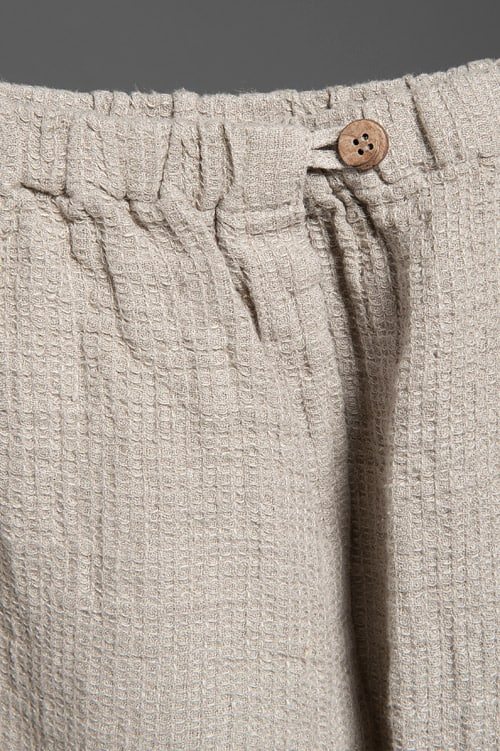 Linen bath towel with a button 2