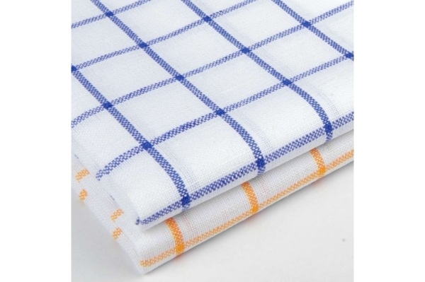 "Set of two checked linen kitchen towels ""Beijing"" 3"
