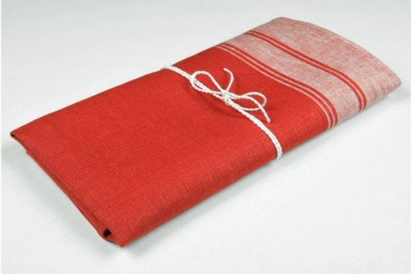 "Red linen kitchen towel ""Boston"" 1"