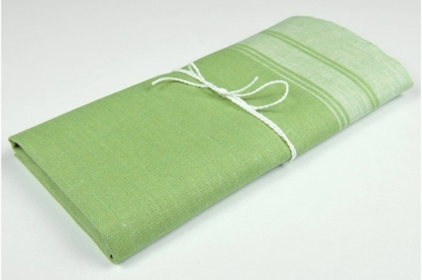 "Green linen kitchen towel ""Canberra"" 1"