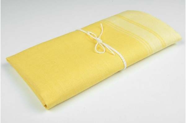 "Yellow linen kitchen towel ""Johannesburg"" 1"