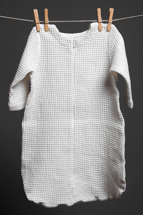 White linen baby sleeping bag 1