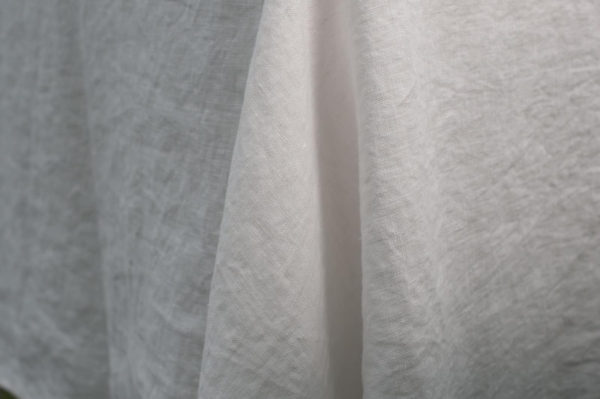 Off-white washed linen tablecloth 2