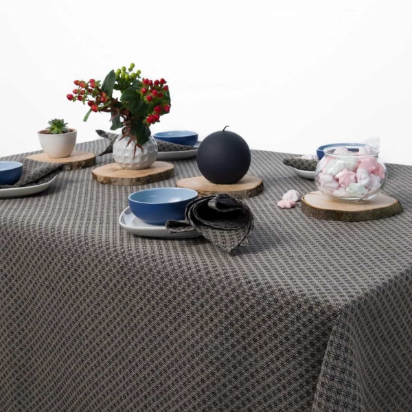 TONY dark blue tablecloth 1