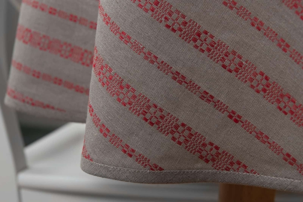 ORNA round (oval) red tablecloth 3