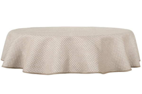 TONY round (oval) grey tablecloth 1