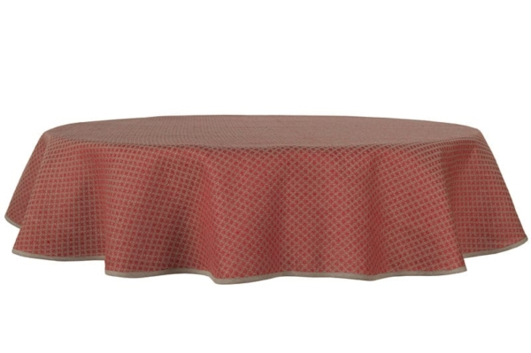 TONY round (oval) red tablecloth 1