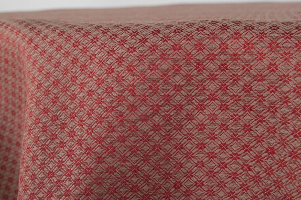 TONY round (oval) red tablecloth 2