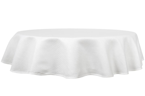 TONY round (oval) white tablecloth 1