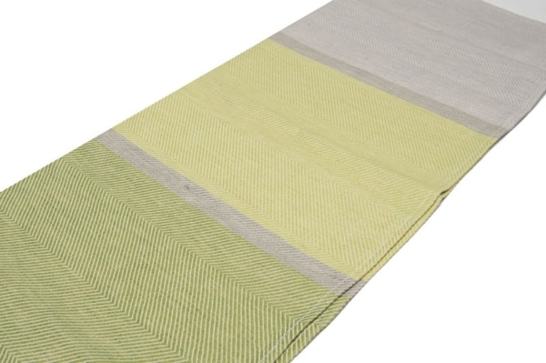 "Green and grey linen kitchen towel ""Lima"" 3"