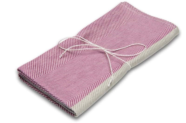 "Purple and grey linen kitchen towel ""Sydney"" 1"