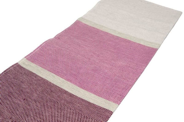 "Purple and grey linen kitchen towel ""Sydney"" 3"