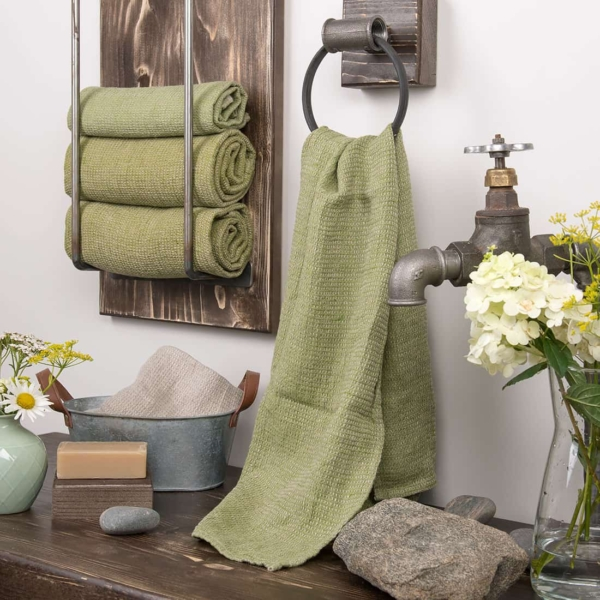 PURO moss green towel 1