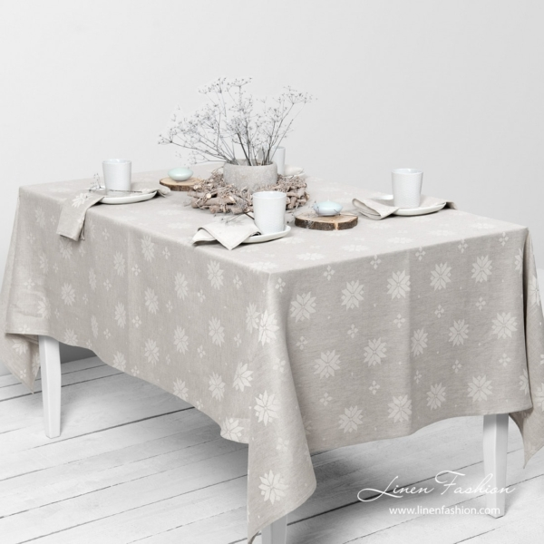 MYSTI light grey tablecloth 1