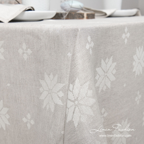 MYSTI light grey tablecloth 2