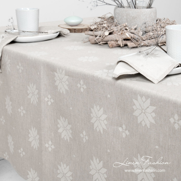 MYSTI light grey tablecloth 3