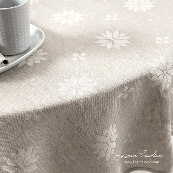 MYSTI round (oval) grey tablecloth 3