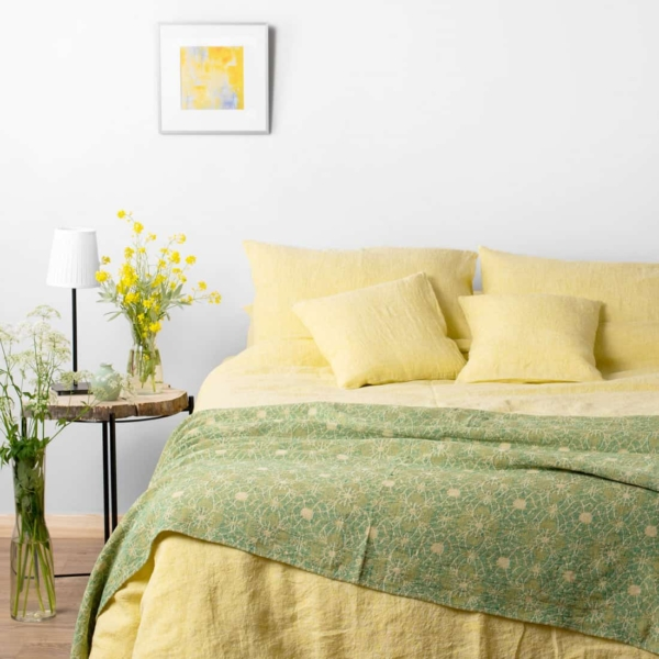 """Yellow Washed Bed Linen Collection """"Citrus"""" 1"""
