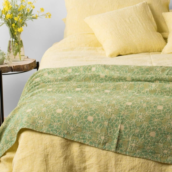 """Yellow Washed Bed Linen Collection """"Citrus"""" 7"""