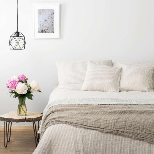 """Grey Striped Bed Linen Collection """"Polo"""" 1"""