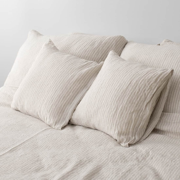 """Grey Striped Bed Linen Collection """"Polo"""" 4"""