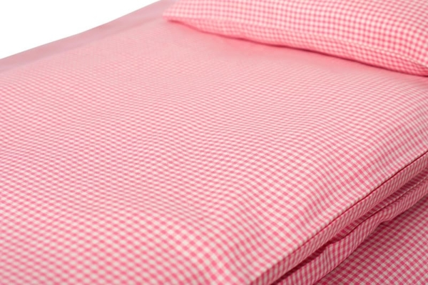 """Kid's pink checked bed linen collection """"Rose"""" 3"""