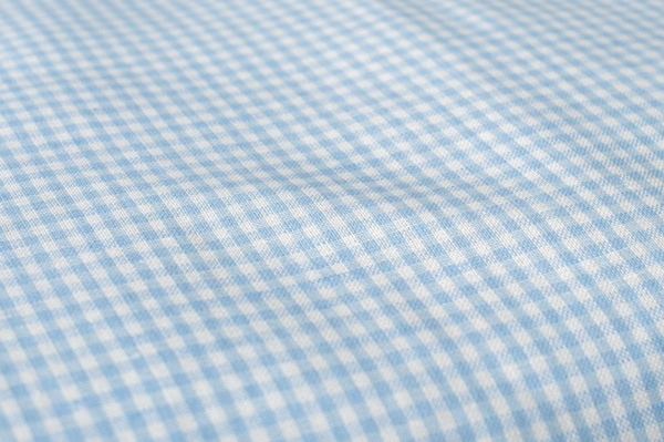 "Blue checked kids' linen duvet cover ""SKY"" 2"