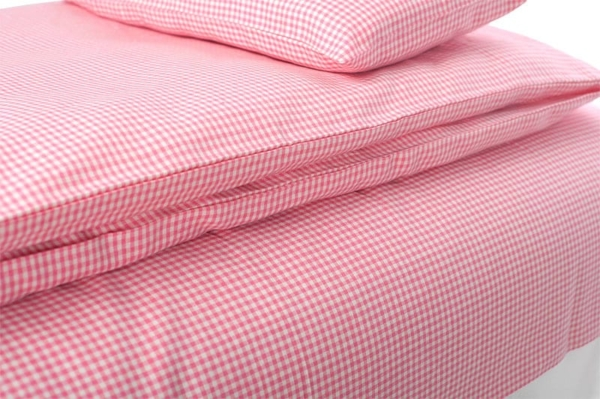"""Kid's pink checked bed linen collection """"Rose"""" 2"""
