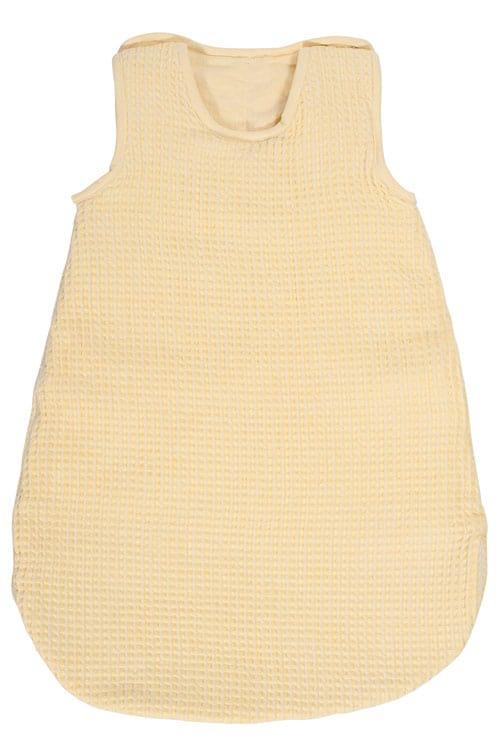 Yellow linen baby sleeping bag 1