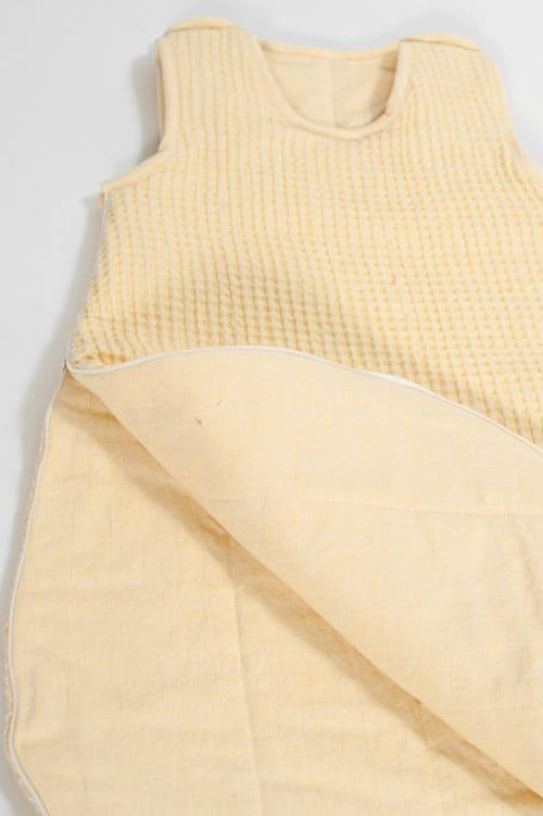 Yellow linen baby sleeping bag 2