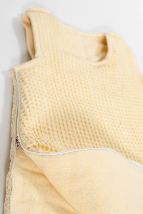 Yellow linen baby sleeping bag 3