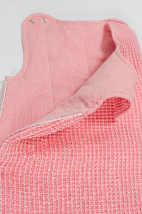 Pink linen baby sleeping bag 2