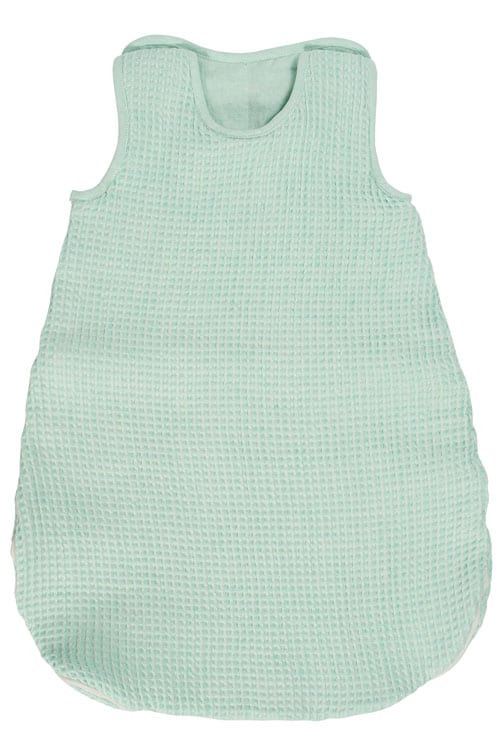 Green linen baby sleeping bag 1
