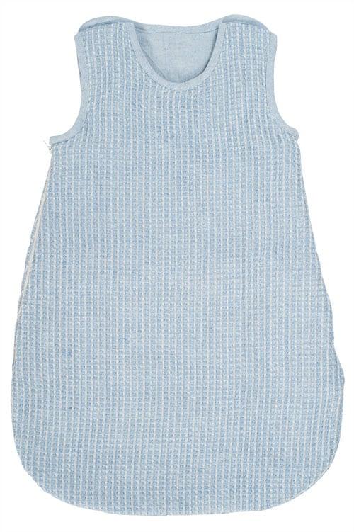 Blue linen baby sleeping bag 1