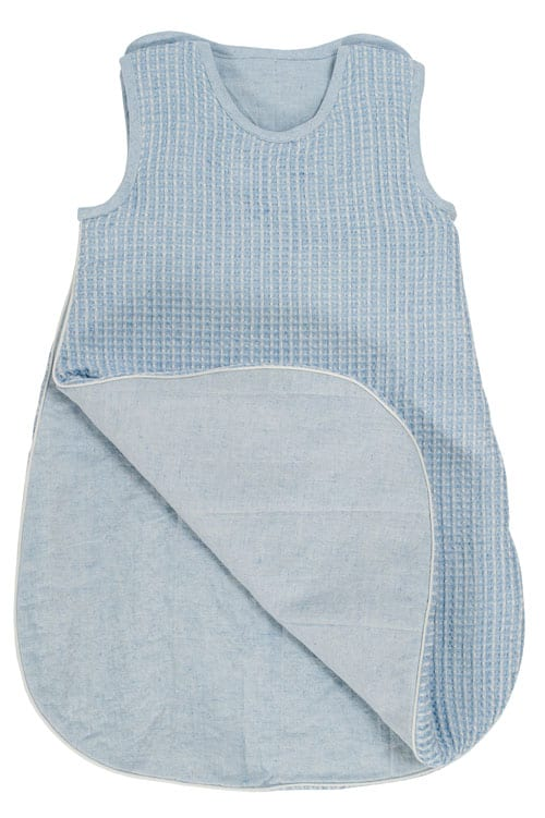 Blue linen baby sleeping bag 2