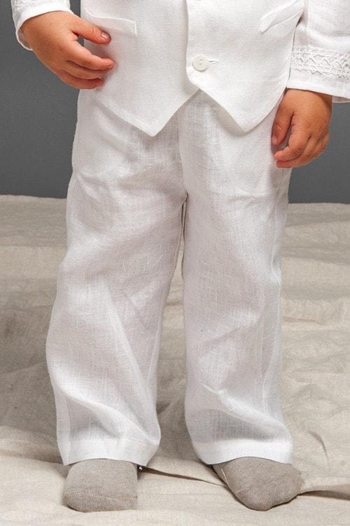 White linen boy trousers 1