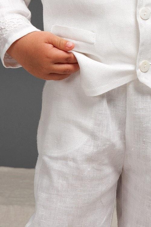 White linen boy trousers 2