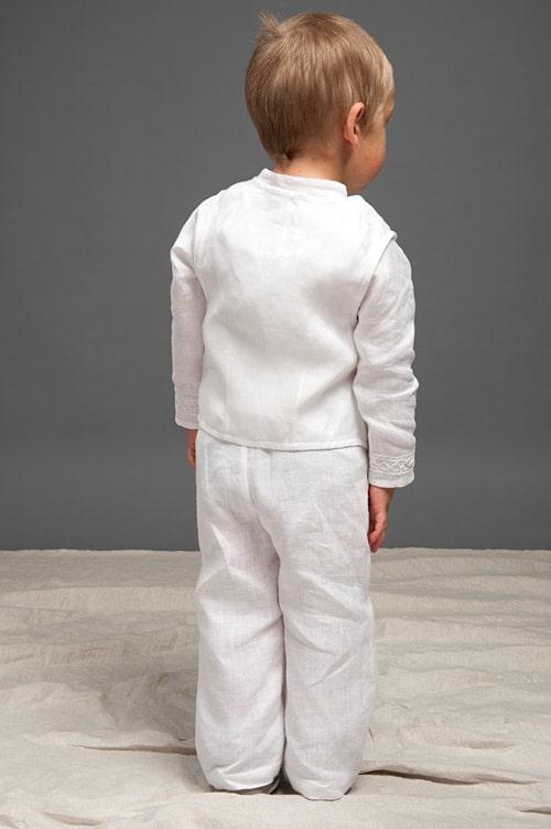 White linen boy trousers 3