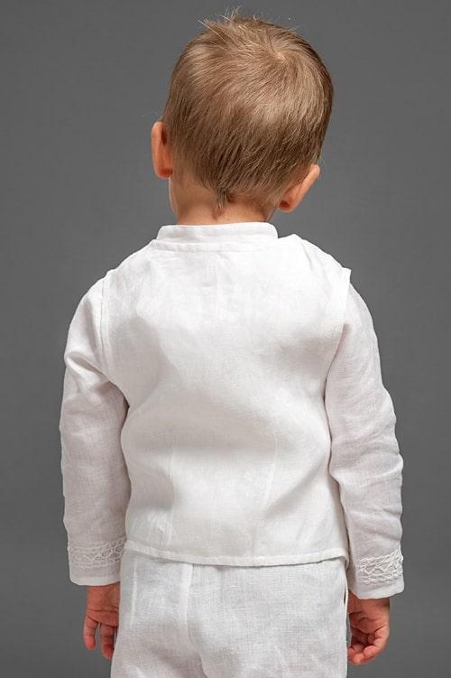 White linen vest for boys 2