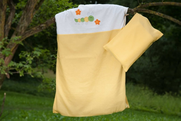 """Yellow embroidered duvet cover """"Sun"""" 3"""
