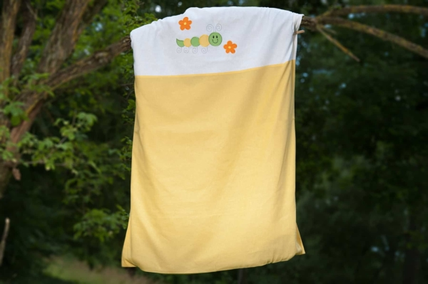 """Yellow embroidered duvet cover """"Sun"""" 1"""
