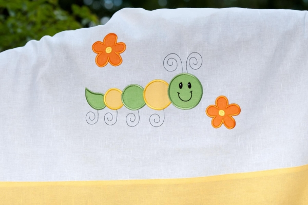 """Yellow embroidered duvet cover """"Sun"""" 2"""