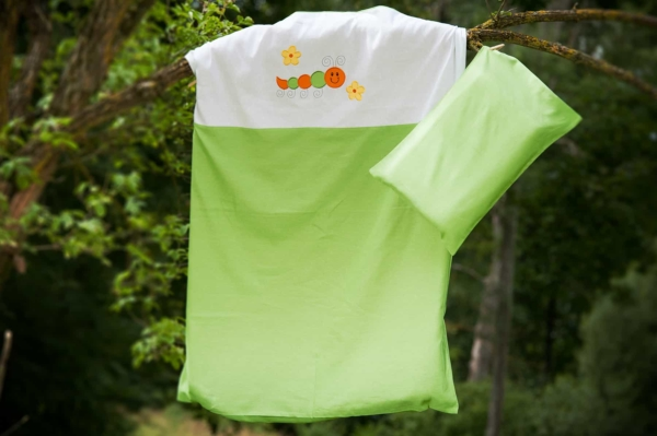"""Kid's green bed linen collection """"Leaf"""" 1"""