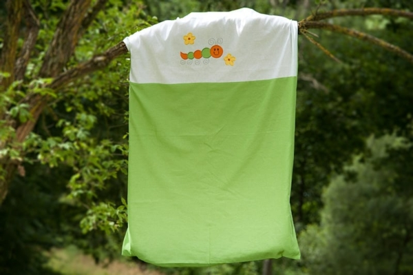 """Kid's green bed linen collection """"Leaf"""" 3"""